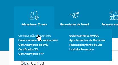 Adicionar Dominio Painel de Controle DirectAdmin