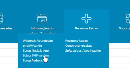 Seletor Versão PHP Painel de Controle DirectAdmin