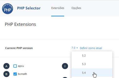 Seletor PHP DirectAdmin
