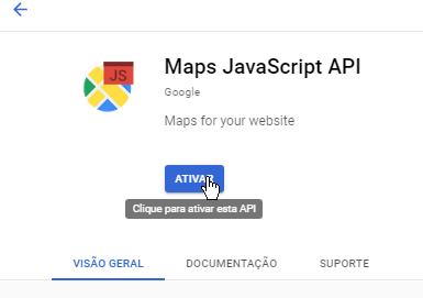 Ativar Maps JavaScript API