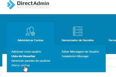 Alterar Senha - Revenda DirectAdmin