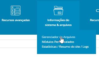 Gerenciador de Arquivos DirectAdmin