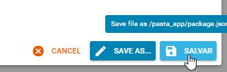 Salvando Arquivo painel DirectAdmin