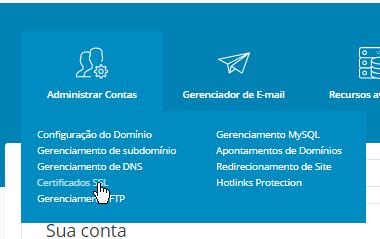 Painel de Controle DirectAdmin Certificado SSL