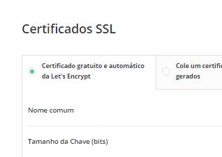 Painel DirectAdmin Certificado SSL Gratuito